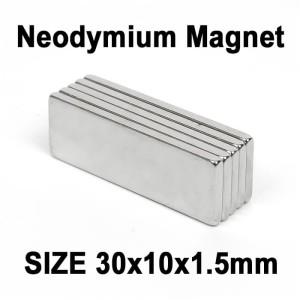Harga Magnet Neodymium 20x10x2mm Magnit Batang Putih 30 X 10 X 2mm Katalog.or.id