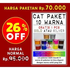 Harga 30 Cat Paket Cat Tekstil Lukis Utk Kaos Kanvas Tas Sepatu Katalog.or.id