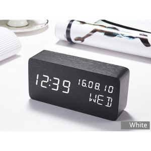 Harga Jam Weker Alarm Kayu Digital Suara Control Berkualitas Katalog.or.id
