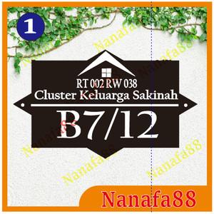 Harga Nomor Rumah Acrylic 30x18cm 3d Katalog.or.id