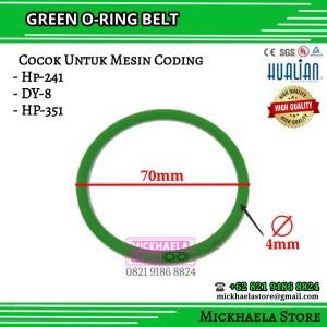 Katalog 4mm X 70mm Green Oring Belt For Ribbon Coding Machine O Ring Karet Katalog.or.id