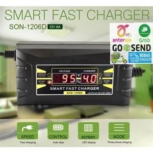Info Cas Aki Accu Charger Aki Mobil Motor 12v 6a Dengan Lcd Katalog.or.id