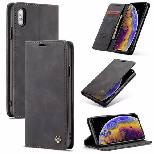 Foto Produk iPhone X XS Flip Case Caseme Cover Leather Wallet Dompet - Hitam dari Vinvend ACC