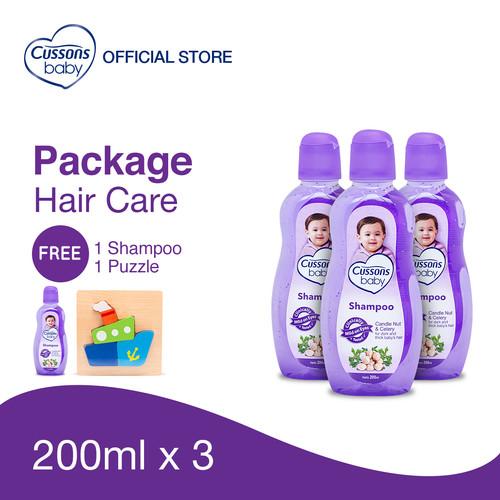 Foto Produk Cussons Baby Shampoo Candle Nut & Celery Pack - Beli 3 GRATIS 1 dari Cussons Official Store
