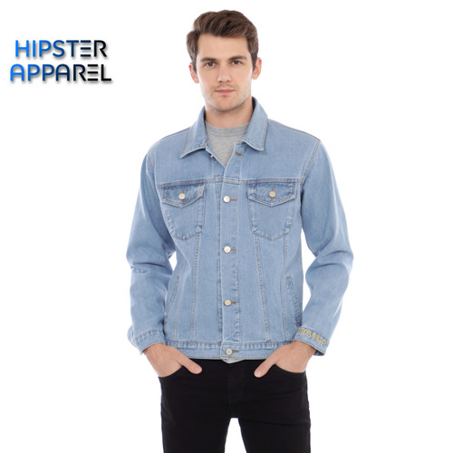Foto Produk Original jaket jeans hipster warna biru muda - Biru Muda, M dari Hipster Official