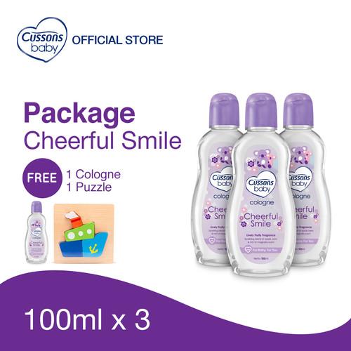 Foto Produk Cussons Baby Cheerful Smile Pack - Beli 3 GRATIS 1 dari Cussons Official Store