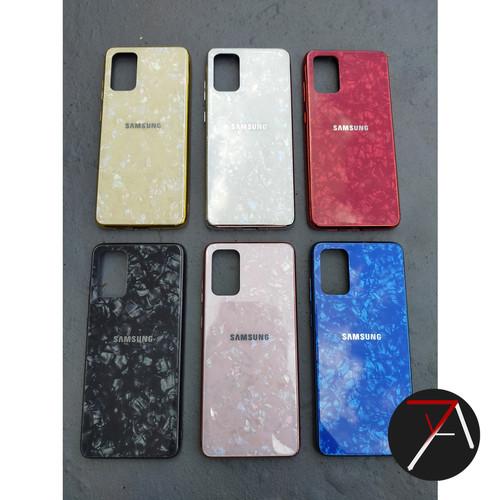 Foto Produk Samsung Galaxy A31 Shiny Shell Shining Diamond Glass Case Hard Cover - Putih dari 17 Agustus