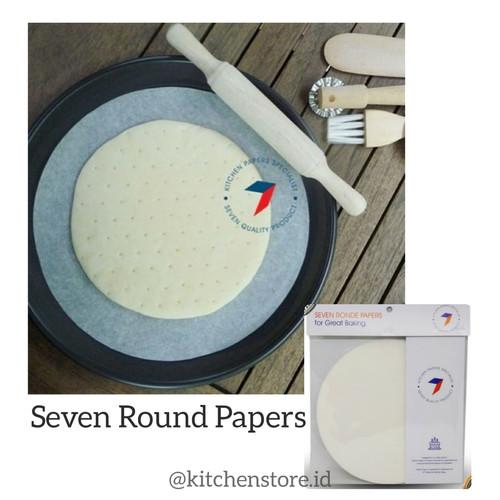 Foto Produk Seven Round Baking Paper / Kertas Baking Bulat Anti Lengket - 20cm dari Baking baking
