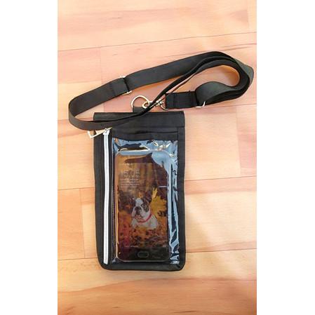 Foto Produk Tas Handphone-Tas Hp-Tas Ponsel-Tas Gantungan Leher-Tas Multifungsi - Hitam dari Calvien Shop