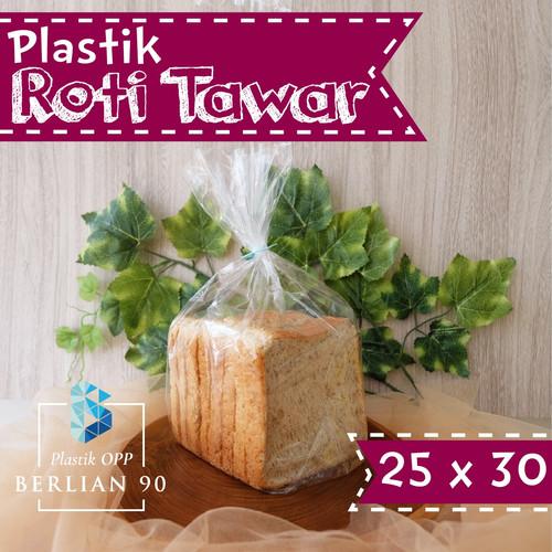 Foto Produk Plastik Roti Tawar 25x30 Cm / Plastik Opp Roti Tawar dari Plastik OPP Berlian 90