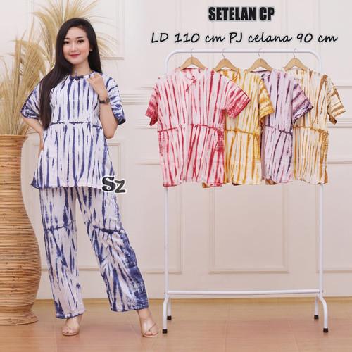 Foto Produk one set tiedye / Setela Celana Panjang / Babydoll Wanita dari RisqianaBatik