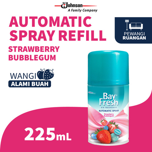 Foto Produk Bayfresh Matic Spray Strawberry Bubblegum 225mL dari SC Johnson & Son ID