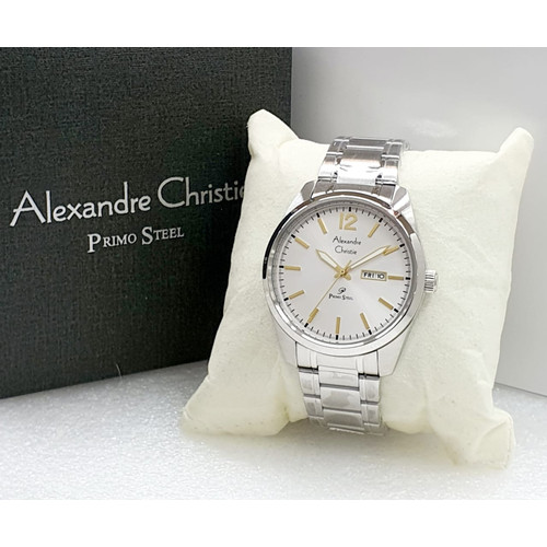 Foto Produk Jam Tangan Pria / Cowok Original Alexandre Christie 1012 Silver - Silver Gold dari Triple - T
