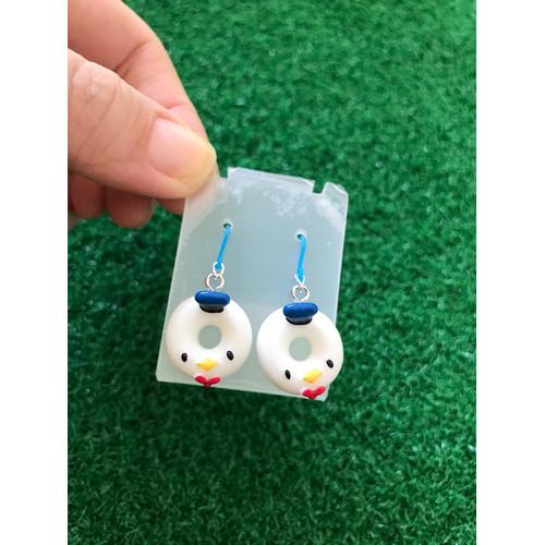 Foto Produk Anting Donut Donald Duck Resin charm korea kait Plastik / kids fashion dari Rita Handycraft