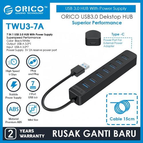 Foto Produk ORICO 7 Port USB 3.0 HUB - TWU3-7A dari Supermassive Indonesia
