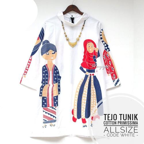 Foto Produk Tejo tunik batik unik wanita - Putih dari Batik Sri