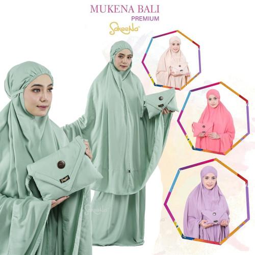 Foto Produk Mukena Bali Dewasa Katun Rayon Polos Jumbo Sakeena Premium - Hijau Mint dari mitahermalia