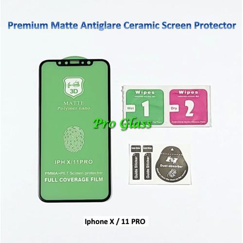 Foto Produk Iphone X / 11 PRO Matte Antiglare Shock Ceramic Screen Protector dari Pro Glass