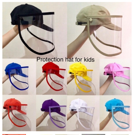 Foto Produk Topi Anti Corona Baseball Anak / Face Shield anak dewasa / Topi + mika dari manything.id
