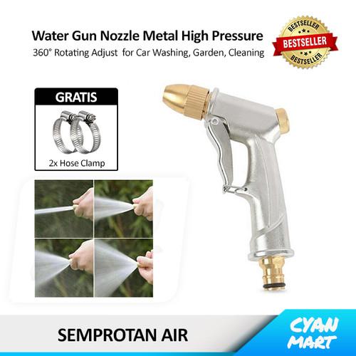 Foto Produk Water Gun Spray Semprotan Air Cuci Mobil Nozzle Steam Stainless Brass - NOZZLE - PENDEK dari CyanMart