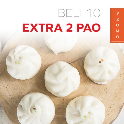Foto Produk PROMO BAKPAO / Beli 10 Extra 2 / Bakpao Frozen / Pao Halal - Frozen dari BAKMI MIPOLO