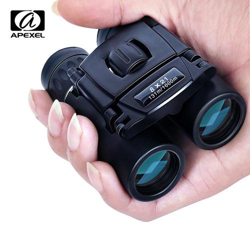 Foto Produk Teropong Binoculars Compact Zoom 8x21 APS-8X21 Teropong Outdoor Black dari rubic wear