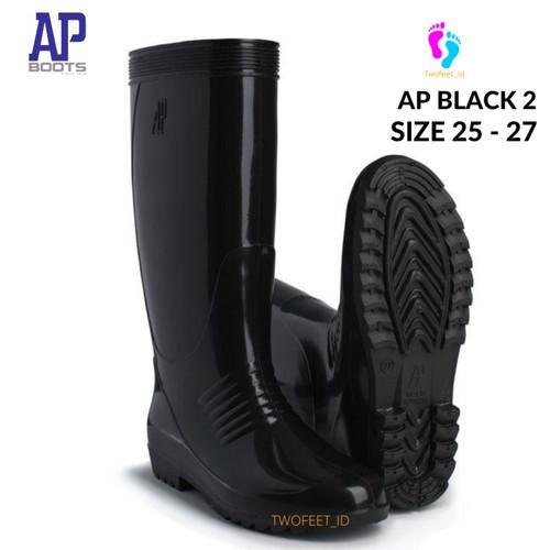 Foto Produk AP BOOTS HITAM TINGGI - AP BLACK 2 HITAM TINGGI SEPATU BOOTS KARET - 25 dari TwoFeet_id