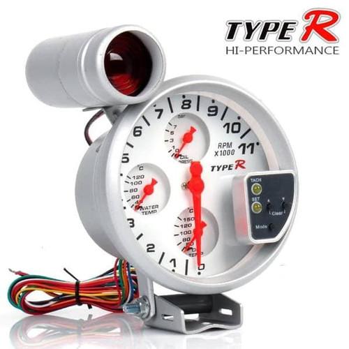 Foto Produk TACHOMETER TYPE R 4IN1 5 INCH TAKOMETER MOBIL TIPE R dari Wijaya co