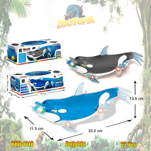 Foto Produk PROMO BBR1010 Lumba Lumba Ikan Dolpin Mainan Anak Safari Hewan Binatan - Biru dari Madam Octopus
