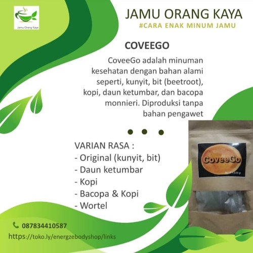 Foto Produk Jamu Kunyit Bit CoveeGo isi 5x@30 gram dari energzewatercom