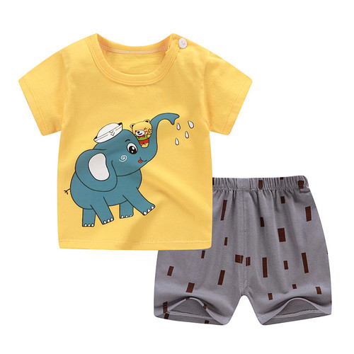 Foto Produk Baju Bayi Setelan Anak Comfy Totem Ukuran 73 / 2-6 Bulan Piyama Bayi - elephant dari Moi and Moi Babies&Kids