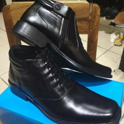 Foto Produk Sepatu Formal PDH Rit Kulit Asli - Hitam, 39 dari rudisport solo