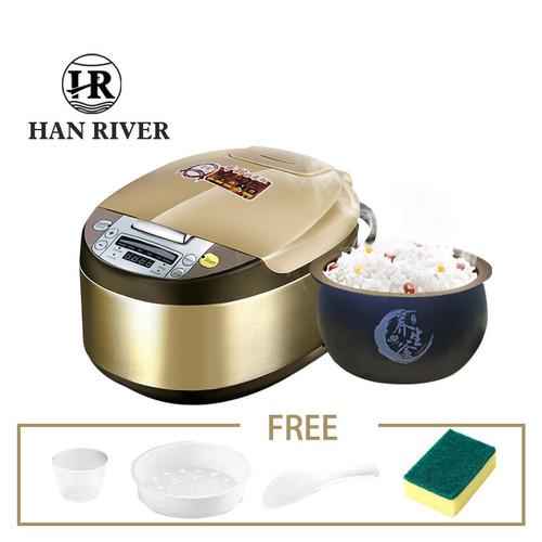 Foto Produk HAN RIVER HRRC-0001 Rice Cooker/magiccom Kontrol sentuh 2L - GOLD dari Han River Official store