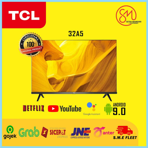 Foto Produk TCL 32A5 Smart LED TV 32 Inch HD Android 9.0 HDR Netflix Youtube Wifi dari Setia Mandiri Elektronik