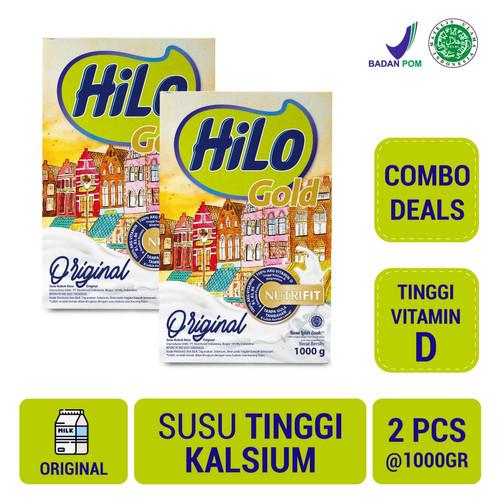 Foto Produk Twin Pack: HiLo Gold Plain 1000gr - Susu Tinggi Kalsium dari NutriMart