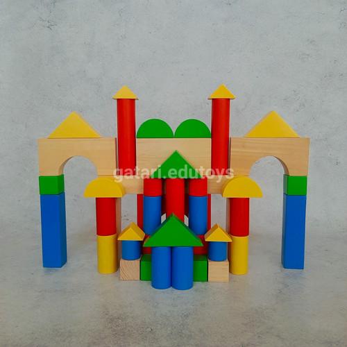 Foto Produk Balok Warna 48 Jumbo (FREE packing kardus dan bubble wrap) dari Gatari Edutoys