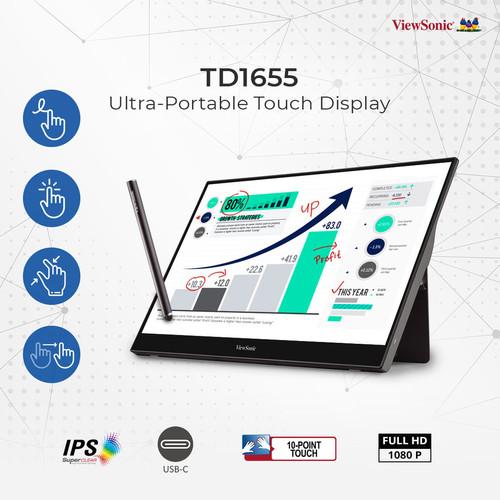 "Foto Produk Monitor Portable 16"" ViewSonic TD1655 |Touch Screen|IPS|USB Type C dari 1 Tech Store"