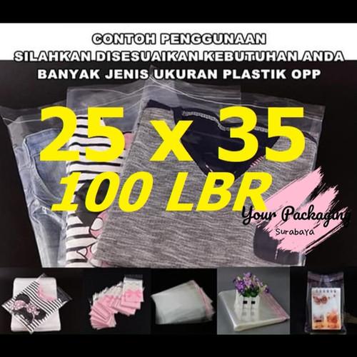 Foto Produk PLASTIK OPP 25X35 SEAL BUNGKUS / PACKING BAJU, GARMENT DLL dari Your Packaging