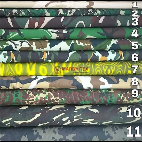 Foto Produk Kain Loreng Army Ripstop Twill per 50cm dari kainara store