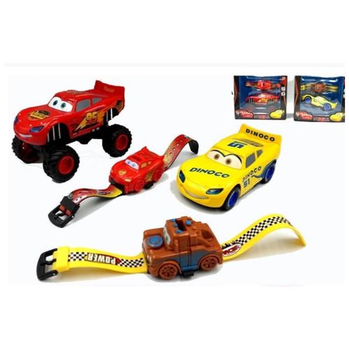 Foto Produk Mainan cars diecast transformable disney pixar / jam tangan cars - Kuning dari naga_toys