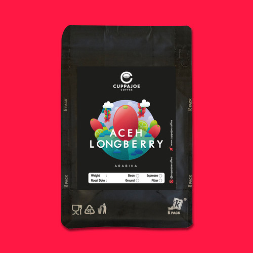 Foto Produk Kopi Arabika Aceh Longberry 100 gram (Biji/Bubuk) - Biji dari CuppaJoe