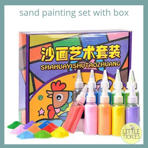 Foto Produk Sand Painting Set with Box - Mainan Edukasi - Mainan Anak dari Little Tickles