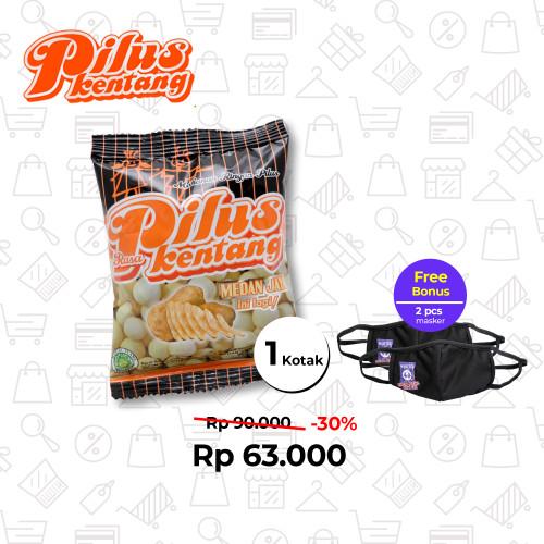 Foto Produk Pilus Rasa Kentang (1 Kotak 120 Pcs) dari Medan Jaya Food
