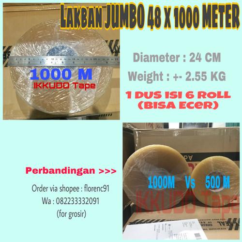 Foto Produk Lakban Super jumbo 1000 meter lebar 48mm 2 inch bening dari The lash shop