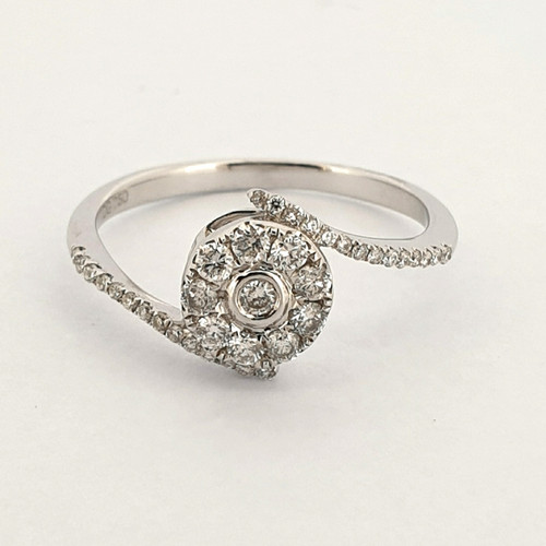 Foto Produk Cincin Emas Berlian Microsetting Ring - HKR 7417W dari Goldmart Official Shop