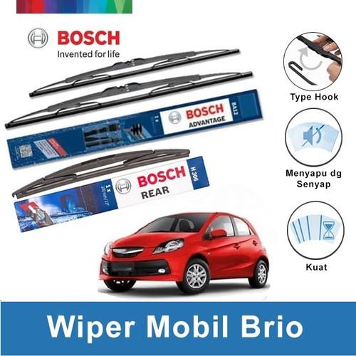 "Foto Produk Bosch Wiper Depan & Belakang Honda Brio Advantage 22"" & 14"" + H306 dari BOSCH by Klik Onderdil"