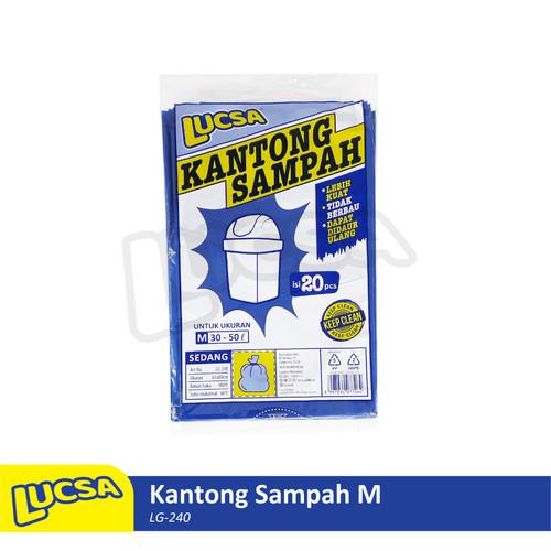 Foto Produk Lucsa Kantong Sampah M 30-50L - Plastik Sampah Bin Liner Garbage Bag dari Lucsa Indonesia
