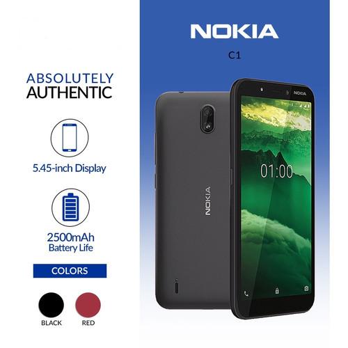 Foto Produk Nokia C1 2020 1/16 Android Go Ram 1GB Internal 16GB Garansi Resmi dari dk-cell