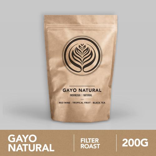 Foto Produk Gayo Natural 200g - Biji Kopi Arabika 200gr   Coffeenatics dari Coffeenatics