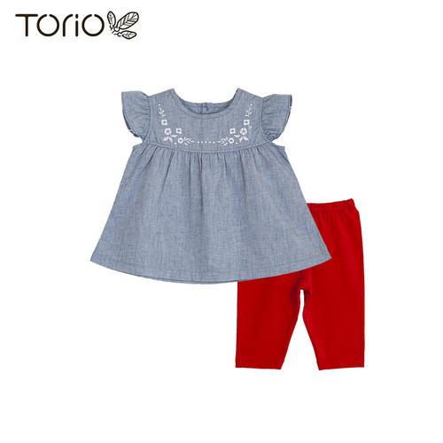 Foto Produk Baju Anak Perempuan Torio Vintage Outwear Set - 6-9 bulan dari Torio